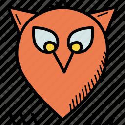 bird, halloween, night, owl, spooky, thanksgiving icon