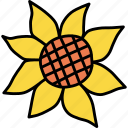 autumn, flower, sunflower, thanksgiving icon