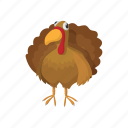 cartoon, delicious, meal, roast, thanksgiving, tray, turkey icon