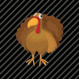 cartoon, delicious, meal, roast, thanksgiving, tray, turkey icon