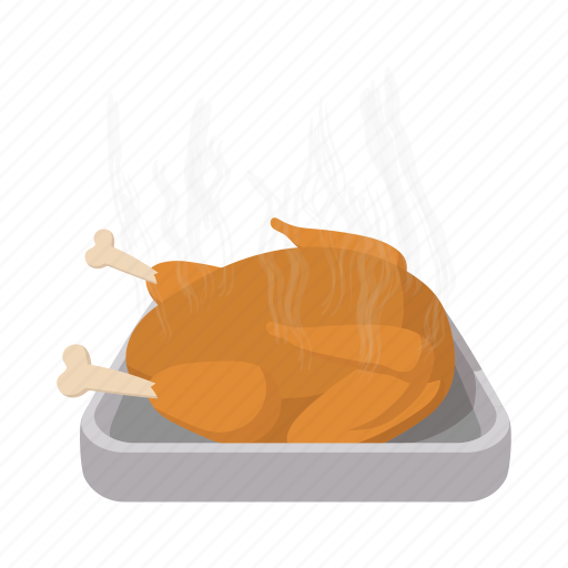 cartoon, meal, roast, roasted, thanksgiving, tray, turkey icon