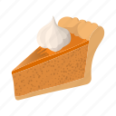 baked, cartoon, crust, meal, pie, piece, warm icon