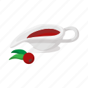 cartoon, pit, rowan, rowanberry, sauceboat, sorb, wild ash icon