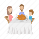 celebration, day, food, table, thanksgiving, turkey, wooden icon