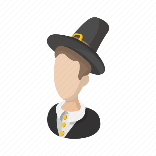 america, cartoon, holiday, man, native, pilgrim, thanksgiving icon