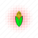 comics, corn, corncob, food, grain, healthy, vegetable icon