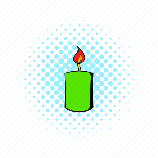 candle, comics, fire, flame, light, religion, wax icon