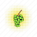 berry, comics, fruit, grape, healthy, ripe, vine icon