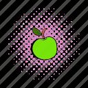 summer, apple, comics, sweet, vegetarian, vitamin, fruit