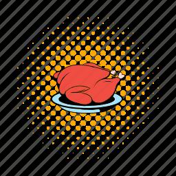 animal, bird, comics, fried, roast, thanksgiving, turkey icon