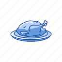 food, roasted chicken, roasted turkey, turkey icon
