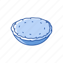 baked pie, cake, pie, pumpkin pie icon