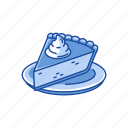 cake, dessert, pie, slice cake icon