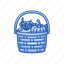 basket, vegetable, vegetable basket, wicker basket icon