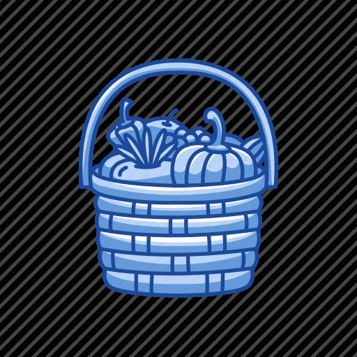 basket, vegetable, vegetable basket, wicker basket icon