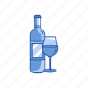 champagne, red wine, wine, wine glasses icon