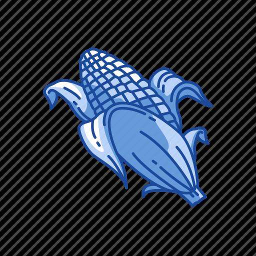 corn, corn husk, corn on the cob, food icon