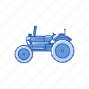 country side, farm, field, truck icon