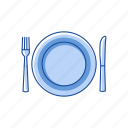 dinner, plate, table setting, thanksgiving dinner icon