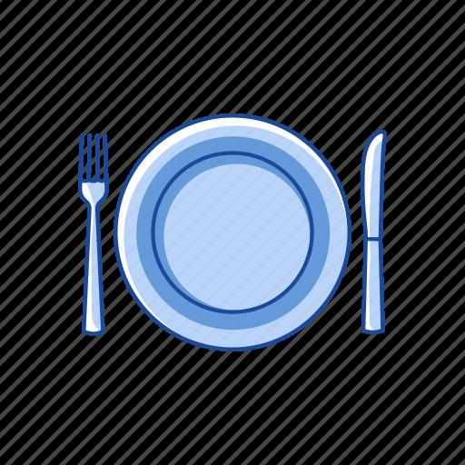 dinner, plate, table setting, thanksgiving dinner icon