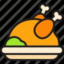 autumn, barbecue, chicken, meat, thanksgiving, turkey