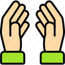 hand, pray, praying, thanksgiving icon