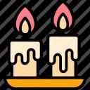 autumn, candles, decoration, dinner, thanksgiving