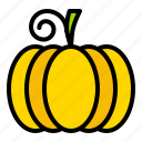 food, pumpkin, thanksgiving, vegetable, vitamin icon