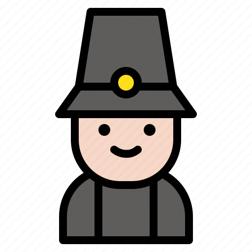 avatar, pilgrim, thanksgiving, traveler icon
