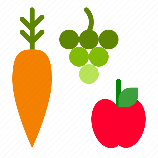 apple, carrot, fall, food, fruit, thanksgiving, vegetable icon
