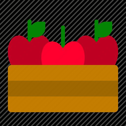 apple, basket, fall, food, fruit, thanksgiving icon