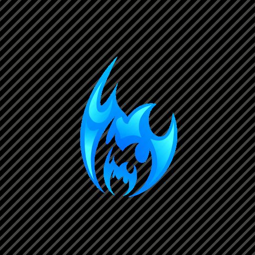 blaze, blue, burn, energy, flame, hot icon