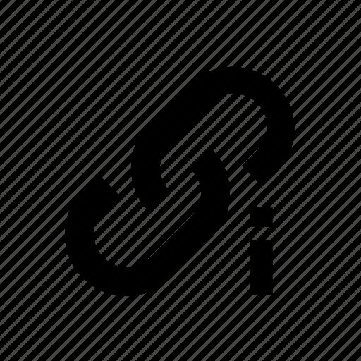 Attention, broken, link icon - Download on Iconfinder