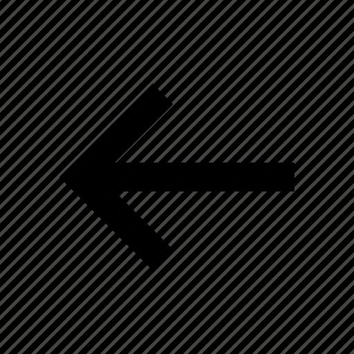 arrow, back, go icon