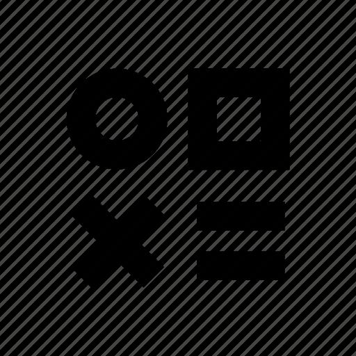 circle, games, square, symbols icon