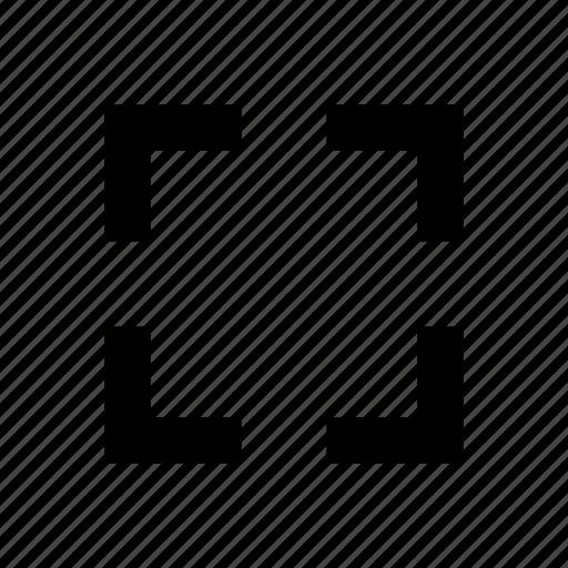 brackets, enlarge, tag icon