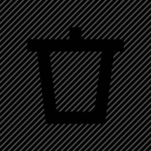 can, erase, trash, trash can icon