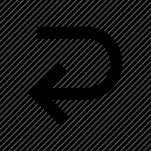 arrow, back, redo, undo icon