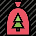 bag, giftsack, santa bag, xmas icon