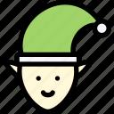 christmas, elf, hat, santa, santa claus