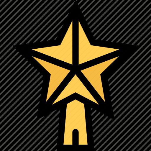 christmas, decoration, star, tree, xmas icon
