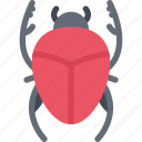 scarab, beetle, insect, animal icon