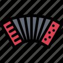 accordion, audio, instrument, music