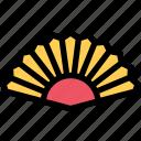 asian fan, cooling, fan, hand, hand fan icon