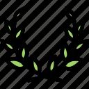 achievement, laurel, laurel wreath, victory, wreath icon