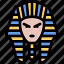 egyptian, pharaoh, mesir, face, giza icon