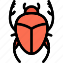 beetle, cult, scarab, scarab beetle, vermin icon