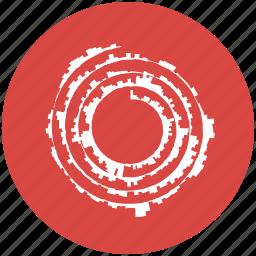condegram, dataviz, science, spiral, swirl icon