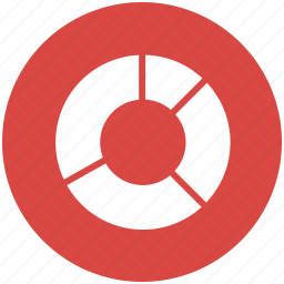 chart, divided, donut, pie, ring, segments icon