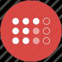 dot matrix, dots, points, circles, grid icon